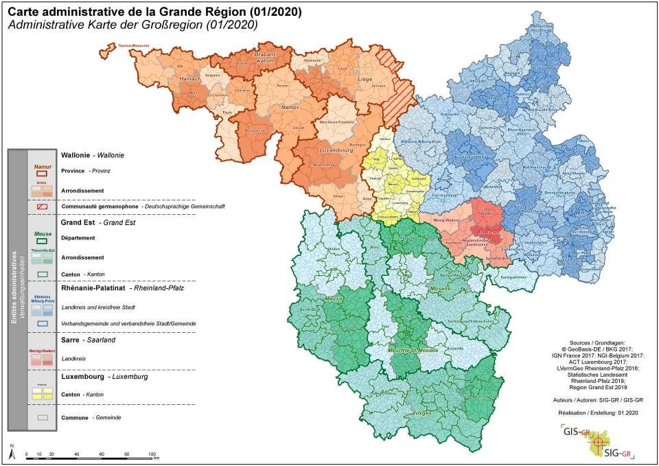 Grande Region 2020 Cartes Thematiques Systeme D Information Geographique Pour La Grande Region