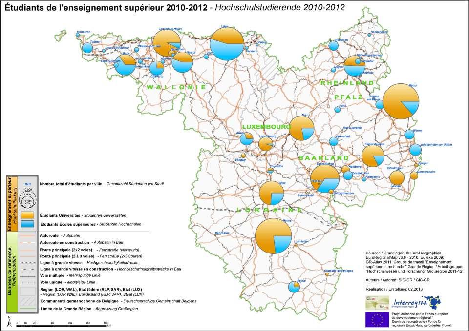 Carte Belgique Enseignement.Nombre D Etudiants Systeme D Information Geographique Pour La