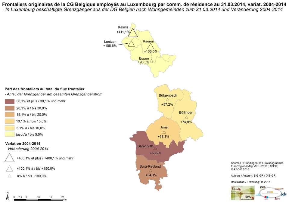 Carte Belgique Communautes Et Regions.De La Communaute Germanophone De Belgique Vers Le Luxemburg Par Lieu